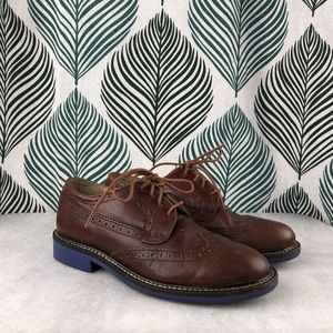Crewcuts Classic Wing Tips Contrast Sole Shoes